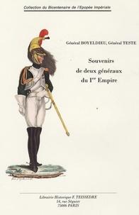 Général Boyeldieu et  Général Teste - Souvenirs de deux généraux du Premier Empire.