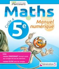 Génération 5 - Maths 5e Cycle 4 iParcours - Manuel numérique. 1 Clé Usb