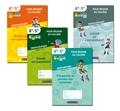 """Génération 5 - Pack 4 cahiers """"pour réussir au collège"""" : n°1-2-3-4."""