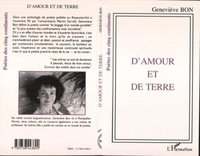 Geneviève Bon - D'amour et de terre.