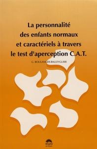 Ucareoutplacement.be La personnalité des enfants normaux et caractériels à travers le test d'aperception CAT Image