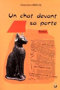 Geneviève Breuil - Un chat devant sa porte.
