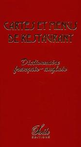 Geneviève de Temmerman et Didier Chedorge - Cartes et menus de restaurant - Dictionnaire français-anglais.