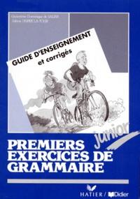 PREMIERS EXERCICES DE GRAMMAIRE JUNIOR. Guide denseignement,t Corrigés.pdf