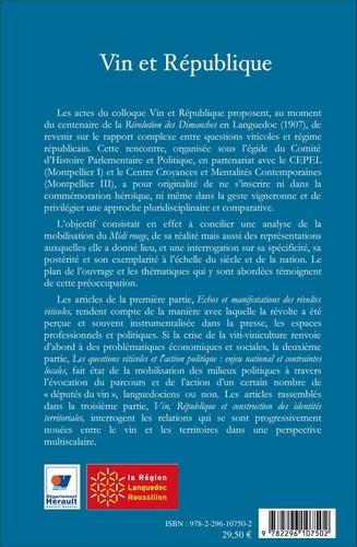 Vin et République. 1907-2007