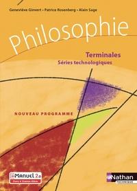 Geneviève Ginvert et Patrice Rosenberg - Philosophie Terminale séries technologiques.