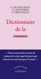 Geneviève Marie de Maupeou et Alain Sancerni - Dictionnaire de la rature.