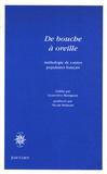 Geneviève Massignon - De bouche à oreille - Anthologie de contes populaires français.