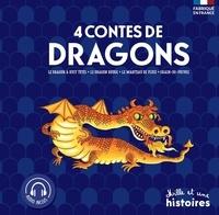 4 contes de Dragons- Le dragon à huit têtes ; Le dragon rouge ; Le manteau de pluie ; Grain de poivre - Geneviève Noël |