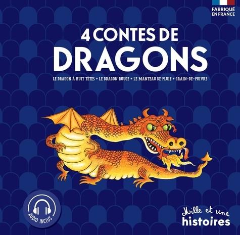Geneviève Noël et Chiaki Miyamoto - 4 contes de Dragons - Le dragon à huit têtes ; Le dragon rouge ; Le manteau de pluie ; Grain de poivre.