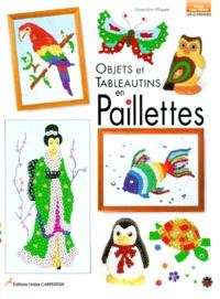 Geneviève Ploquin - Objets et tableautins en paillettes.