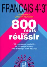 Pdf Complet Francais 4eme Et 3eme 800 Mots Pour Reussir