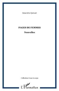 Geneviève Quivart - Pages de femmes.