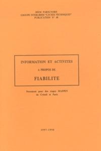 Geneviève Saint-Pierre et Bernard Verlant - Information et activités à propos de fiabilité.