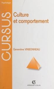 Geneviève Vinsonneau et Nicole Bacri - Culture et comportement.