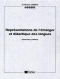 Geneviève Zarate - Représentations de l'étranger et didactique des langues.