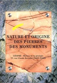 Annie Blanc et Claude Lorenz - Nature et origine des pierres des monuments - Volume 1. 1 Cédérom