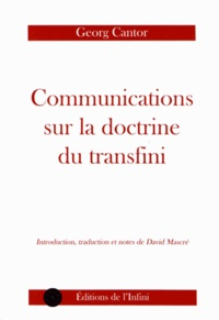 Georg Cantor - Communications sur la doctrine du transfini.