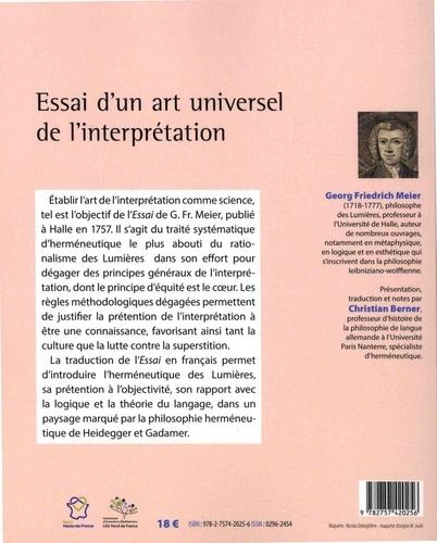 Essai d'un art universel de l'interprétation