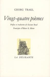 Georg Trakl - Vingt-quatre poèmes.