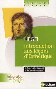 Introduction aux leçons d'Esthétique - Georg Wilhelm Friedrich Hegel pdf epub