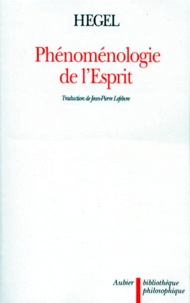 Georg Wilhelm Friedrich Hegel - Phénoménologie de l'Esprit - Edition de 1807.