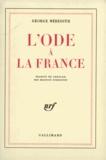 George Meredith - Ode à la France.
