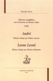 George Sand - Oeuvres complètes 1835 - André ; Leone Leoni.