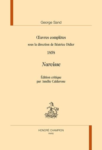 Oeuvres complètes. Narcisse 1858