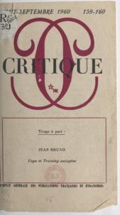 Georges-Albert Astre et Jean Bruno - Yoga et training autogène.