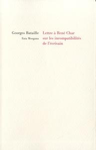 Téléchargements de livres audio en français Lettre à René Char sur les incompatibilités de l'écrivain 9782377920532