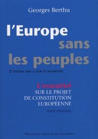 LEurope sans les peuples - Commentaire du projet de Constitution européenne et texte intégral.pdf