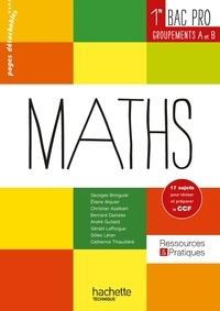 Télécharger le livre électronique au PC Maths 1e Bac Pro  - Groupements A et B par Georges Bringuier, Eliane Alquier, Christian Azalbert, Bernard Dainèse en francais
