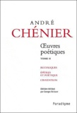 Georges Buisson - André Chénier - Oeuvres poétiques, Tome 2.