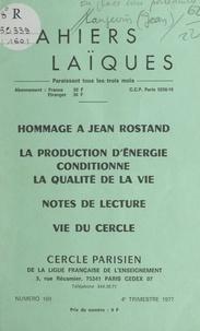 Georges Cogniot et Jean Langevin - La production d'énergie conditionne la qualité de la vie - Notes de lecture. Vie du Cercle.