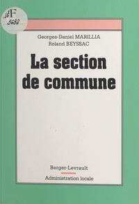 Georges-Daniel Marillia et  Beyssac - La section de commune.