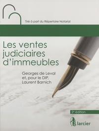 Georges de Leval - Les ventes judiciaires d'immeubles.