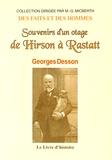 Georges Desson - Souvenirs d'un otage, de Hirson à Rastatt.