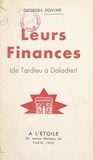 Georges Dovime - Leurs finances (de Tardieu à Daladier).
