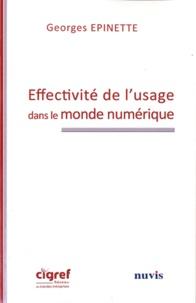 Georges Epinette - Effectivité de l'usage dans le monde numérique.