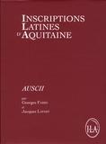 Georges Fabre et Jacques Lapart - Inscriptions latines d'Aquitaine (ILA) - Auscii.