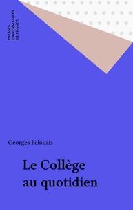 Georges Felouzis - Le collège au quotidien - Adaptation, socialisation et réussite scolaire des filles et des garçons.
