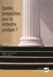 Georges Garioud - Quelles perspectives pour la recherche juridique ?.