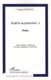Georges Gurvitch - Ecrits allemands - Tome 1, Fichte.