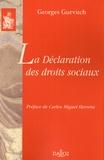 Georges Gurvitch - La Déclaration des droits sociaux.
