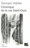 Georges Haldas - Chronique de la rue Saint-Ours.