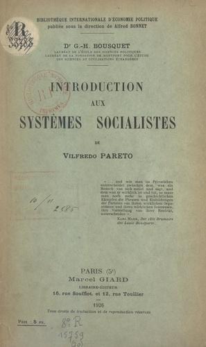 Introduction aux systèmes socialistes de Vilfredo Pareto