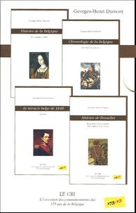 Georges-Henri Dumont - Coffret 4 volumes à l'occasion des commémorations des 175 ans de la Belgique - Histoire de la Belgique ; Chronologie de la Belgique ; Histoire de Bruxelles ; Le miracle belge de 1848.