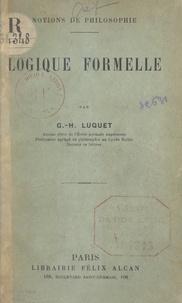 Georges-Henri Luquet - Logique formelle.