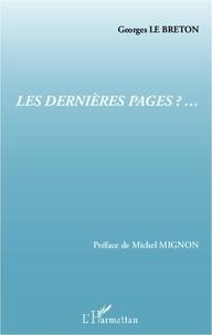 Georges Le Breton - Les dernières pages - Vers une esthétique de l'éducation.